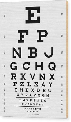 Snellen Chart - Full Alphabet Wood Print by Martin Krzywinski