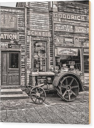 Snohomish Antiques Wood Print by Sonya Lang