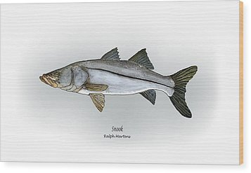 Snook Wood Print by Ralph Martens