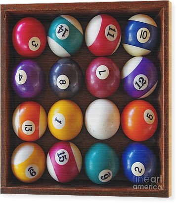 Snooker Balls Wood Print