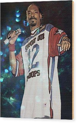 Snoop Dogg Wood Print by Ericamaxine Price