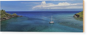 Wood Print featuring the photograph Snorkeling In Maui by James Eddy