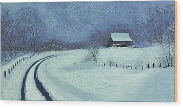 Snow Bound Wood Print