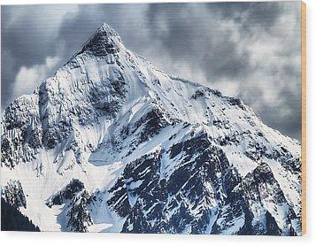 Snow Cap Wood Print by Naman Imagery