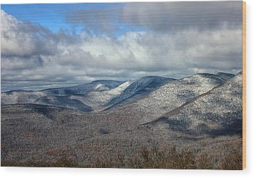 Snow-capped Catskills  Wood Print