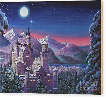 Snow Castle Wood Print by David Lloyd Glover