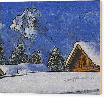 Snow Covered Wood Print by Anthony Caruso