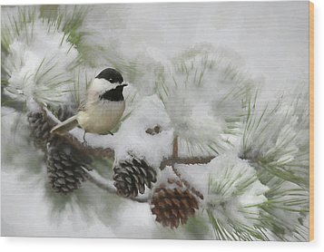 Wood Print featuring the photograph Snow Day by Lori Deiter