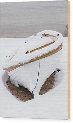 Snow Dory Wood Print
