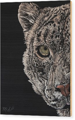 Snow Eye Wood Print