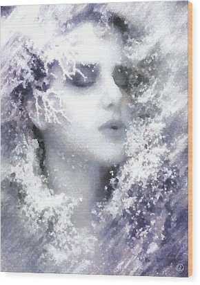 Wood Print featuring the digital art Snow Fairy  by Gun Legler