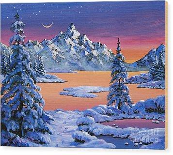 Snow Fantasy Wood Print by David Lloyd Glover