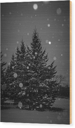 Snow Flakes Wood Print by Annette Berglund