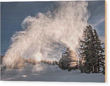 Snow Flume Wood Print