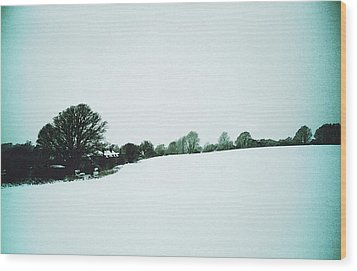 Snow In Sussex Wood Print by Anne Kotan