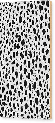 Wood Print featuring the painting Snow Leopard Design by Saad Hasnain