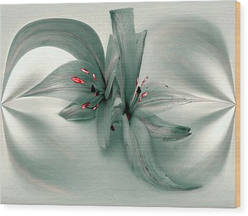 Snow Lilies Wood Print by Irma BACKELANT GALLERIES