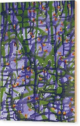 Snow Wood Print by Lourdes  SIMON