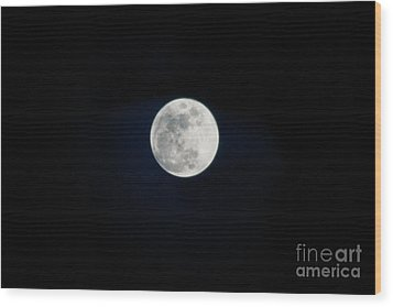 Snow Moon 4 Wood Print by Janie Johnson