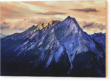 Wood Print featuring the photograph Mount Cascade by John Poon