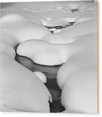 Snow Pillows Wood Print by James Rasmusson