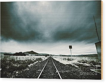 Wood Print featuring the photograph Snow Railway by Jorgo Photography - Wall Art Gallery