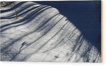 Wood Print featuring the photograph Snow Shadow 1 by Douglas Pike