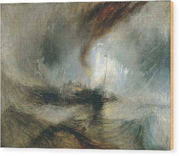 Wood Print featuring the painting Snow Storm by Joseph Mallord William Turner