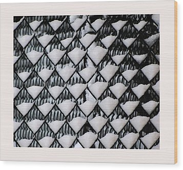 Snow Triangles After Storm Wood Print by Rene Crystal
