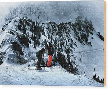 Snowbird Wood Print by Jim Hill