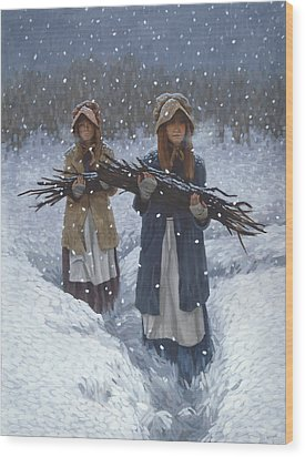 Snowbound At Red Buttes Wood Print