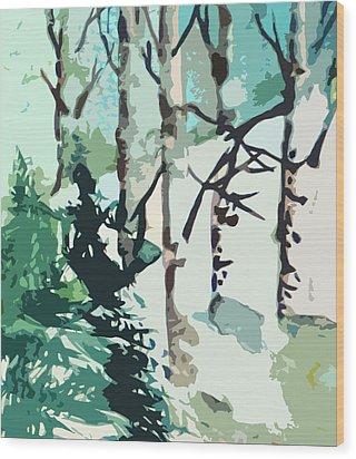 Snowbound Wood Print by Mindy Newman