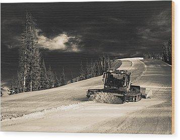 Snowcat Wood Print