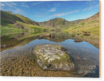 Wood Print featuring the photograph Snowdonia Mountain Reflections by Adrian Evans