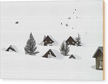 Snowed In Wood Print by Gareth Davies