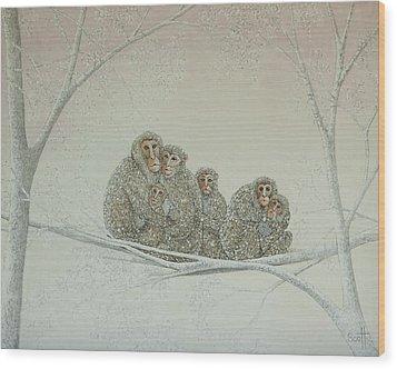 Snowed Under Wood Print by Pat Scott