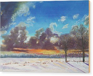 Snowfield IIi Wood Print by Lucinda  Hansen