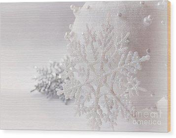 Snowflake Wood Print by Cindy Garber Iverson