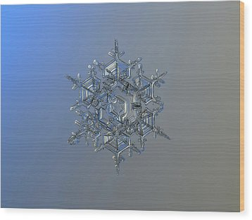 Snowflake Photo - Crystal Of Chaos And Order Wood Print by Alexey Kljatov