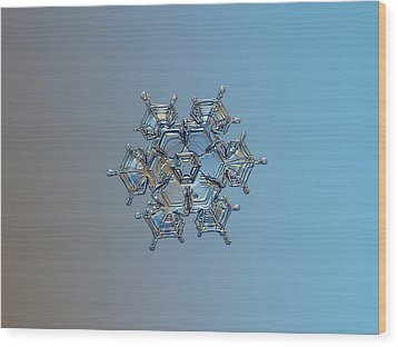 Wood Print featuring the photograph Snowflake Photo - Flying Castle by Alexey Kljatov