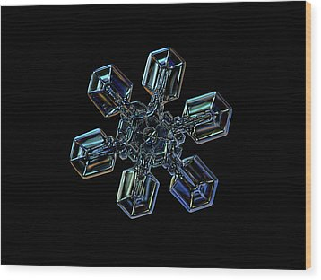 Snowflake Photo - High Voltage IIi Wood Print by Alexey Kljatov