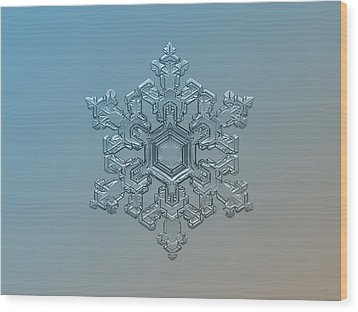 Snowflake Photo - Ornate Pattern Wood Print