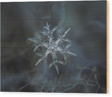 Wood Print featuring the photograph Snowflake Photo - Rigel by Alexey Kljatov