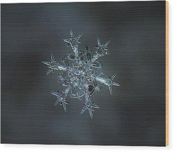 Snowflake Photo - Starlight II Wood Print by Alexey Kljatov