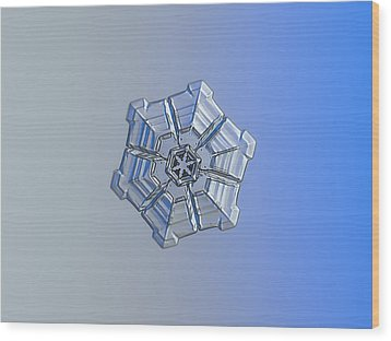 Wood Print featuring the photograph Snowflake Photo - Winter Fortress by Alexey Kljatov