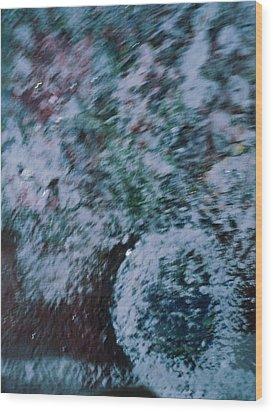 Snowglobe Gone Wild Blue Wood Print by Anne-Elizabeth Whiteway