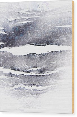 Wood Print featuring the photograph Snowstorm In The High Country by Lenore Senior