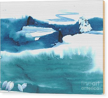 Snowy Egrets Wood Print by Mui-Joo Wee