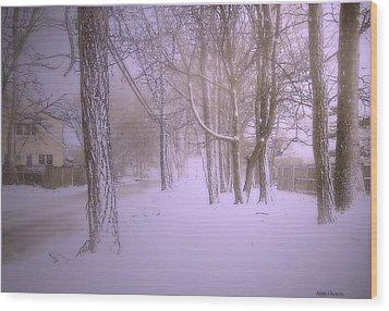 Snowy Landscape Wood Print