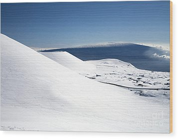 Snowy Mauna Kea Wood Print by Peter French - Printscapes